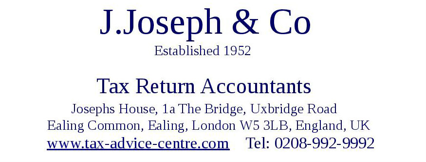J.Joseph & Co, Accountants in Ealing, London W5 3LB , England, UK